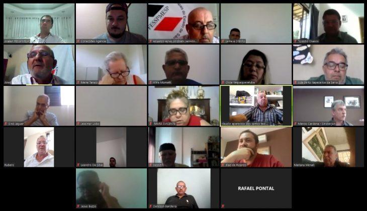 Videoconferência semanal FESSPMESP
