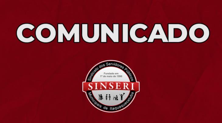 Sinseri anuncia que suspensão dos atendimentos presenciais é prorrogada