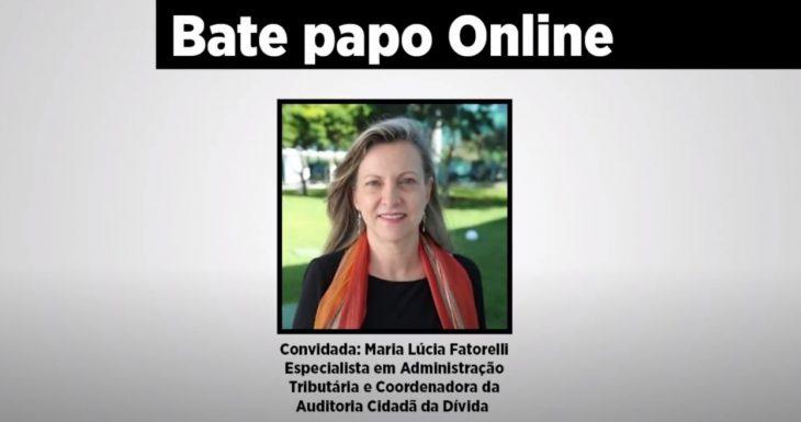 SISEMUG participa do bate papo online com Maria Lucia Fatorelli