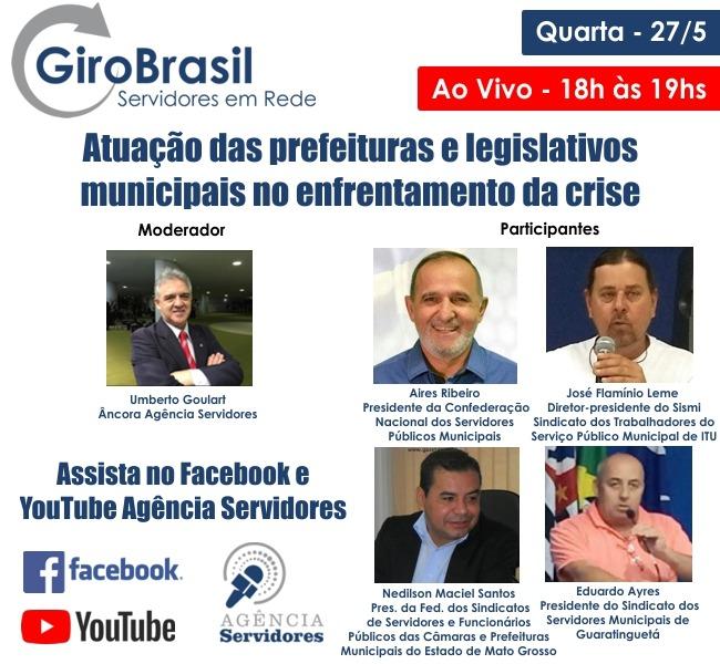Programa GiroBrasil ao vivo com a participação FESSPMESP