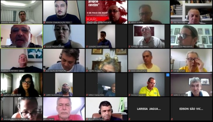 Convocações para videoconferências da diretoria FESSPMESP