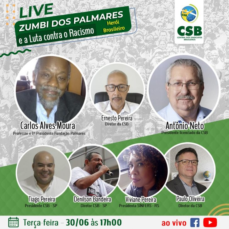 Live: Zumbi dos Palmares (Herói Brasileiro) e a luta contra o Racismo