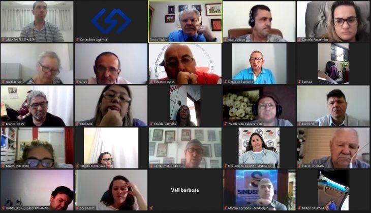 Realizada mais uma videoconferência semanal FESSPMESP