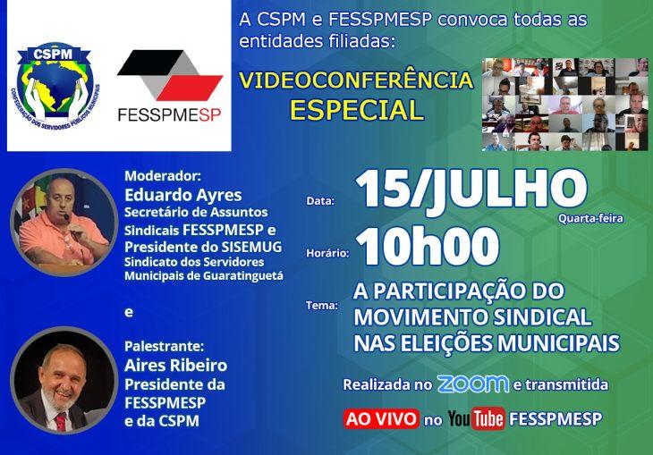A FESSPMESP oferece mais uma Videoconferência Especial ao vivo com palestra do presidente Aires Ribeiro