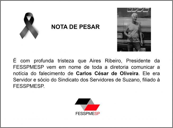 nota de pesar fesspmesp Carlos César de Oliveira.