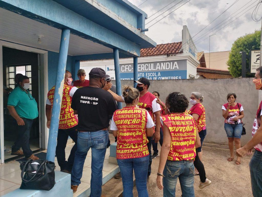 Equipe de Eleições FESSPMESP realiza o pleito eleitoral sindical hoje em Herculândia