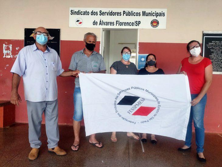 Equipe FESSPMESP realiza eleições sindicais em Álvares Florence