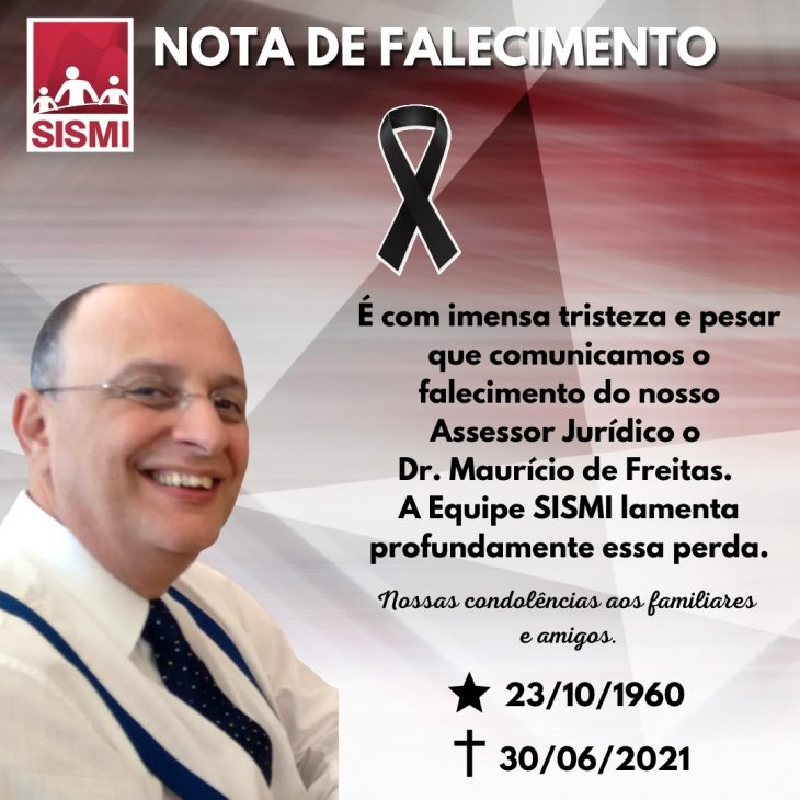 Nota de Pesar – Dr. Maurício de Freitas