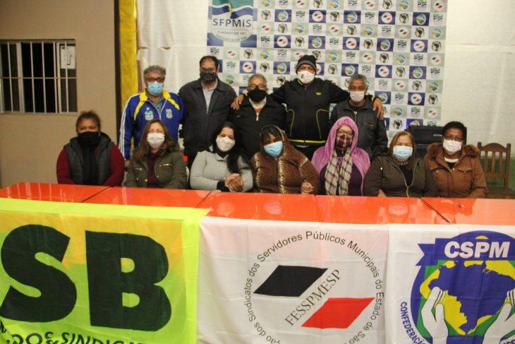 Eleições Sindicais em Itapecerica da Serra com coordenação FESSPMESP