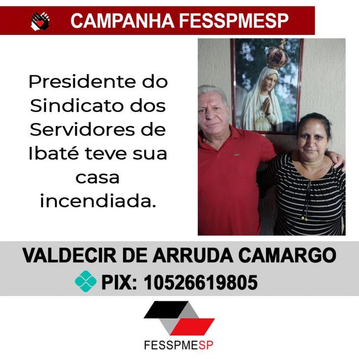 Campanha FESSPMESP: Valdecir de Arruda Camargo