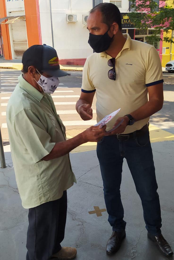 Sindicato dos Servidores de Regente Feijó-SP nas ruas contra a PEC 32